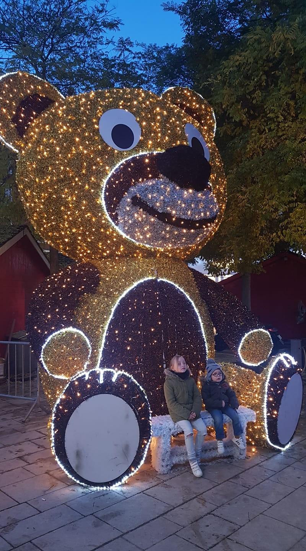 L'ourson scintillant géant
