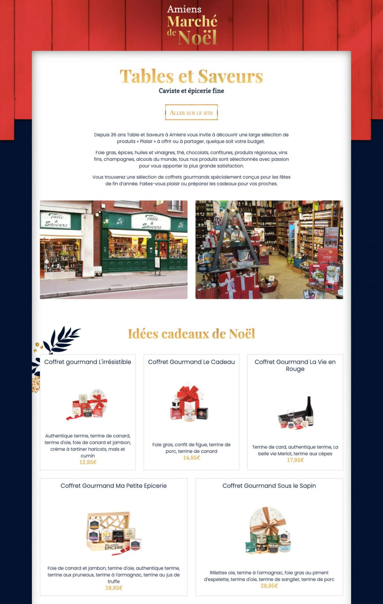 Chalet marche noel virtuel amiens